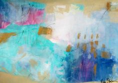 """She's So Sweet 24x18"""" colorful abstract on paper by Kerri Blackman"""