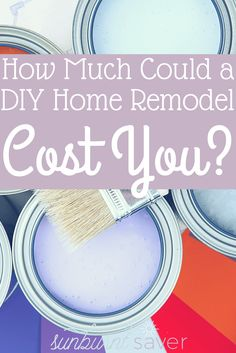 How much can a DIY home remodel cost you? A lot of money and a lot of questions! For those who wanted to DIY everything, a cautionary tale - http://sunburntsaver.com/ever-growing-list-costs-new-home/