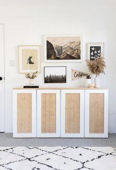 Cane Furniture, Ikea Furniture, Ikea Ivar Cabinet, Ikea Sideboard Hack, Kitchen Sideboard, Sideboard Table, White Sideboard, Sideboard Cabinet, Home And Deco