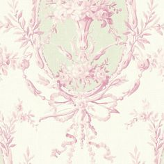 Pink Ribbons Roses Bouquets Wallpaper