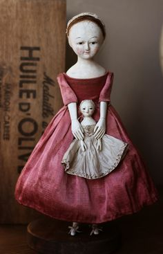 Wooden dolls by Lena Smaga