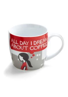 I would want a cute mug to drink the coffee I would inevitably start drinking. #ModCloth