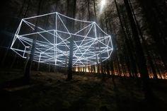 light installations by nathaniel rackowe