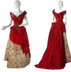 Worth evening dress,  1885