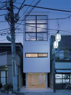 Kyosho Jutaku: Japanese for small house // Modern Contemporary architecture building Architecture Du Japon, Minimalist Architecture, Japanese Architecture, Space Architecture, Residential Architecture, Contemporary Architecture, English Architecture, Architecture Images, Industrial Architecture