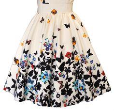 White Butterfly Tea Dress – Skirt