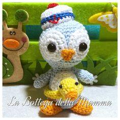 Pinguino marinaio amigurumi. Seguimi su facebook  https://www.facebook.com/La-Bottega-della-Mamma-262207623833688/