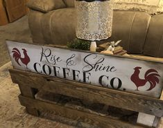 Farmhouse Signs, Farmhouse Style, Farmers Market Sign, Dining Room Windows, Distressed Frames, Coffee Company, Coffee Signs, Rustic Signs, I Fall In Love