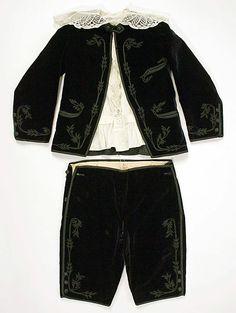 1879 Boy's Suit  Culture: American  Medium: silk, cotton