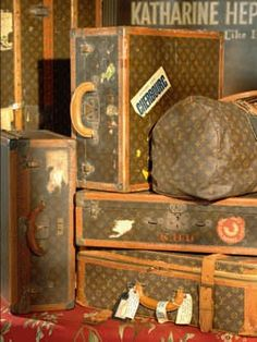 d588d560c9da Kate Hepburn s famous LV luggage collection Lv Luggage, Louis Vuitton  Luggage, Luxury Luggage,