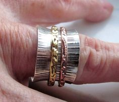 Sterling spinner ring 925 spinner ring silver by artsandadornments