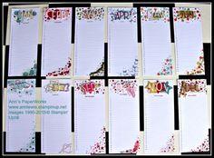 Perpetual Calendar Project Kit, a little bit fancier - Ann's PaperWorks #stampinup #Ann Lewis