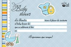 Invitaciones gratis para Baby Shower niño