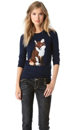 Hello! This has my name all over it. Markus Lupfer Fox Sequin Sweater | ShopBop