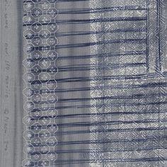 Nani Iro Kokka Japanese Fabric ori-some - beni kake-sorairo - 50cm