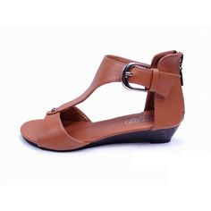 A staple for the sunny season. This sandal feature a T-strap vamp and contrasting heel. Subtle, comfortable style thats so extraordinary.