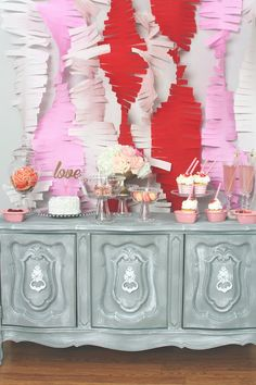 Pink + Red Love Themed Bridal Shower via Kara's Party Ideas KarasPartyIdeas.com #bridalshowerideas #loveparty #redandpinkparty #vday #valentinesparty (21)