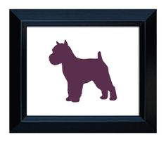 Brussels Griffon Art Cropped Ears and Docked  by MillerSyeShadows, $19.00