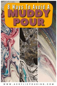 Muddiness is frustrating, but avoidable and fixable. Don't throw in the towel if you're not getting the vibrant colors you're looking for! Come join our Facebook Group (search for Acrylic Pouring) and we can help you troubleshoot on a more personal level if you're still struggling. #acrylicpouring #muddypour #troubleshootpour #pouringguide