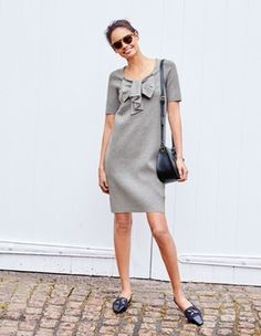 Bow Knitted Dress Boden