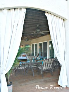 No Sew Outdoor Curtains