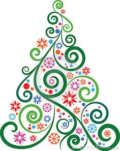 swirly and pretty tree #Christmas