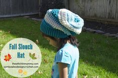 The Stitchin' Mommy & Oombawka Design are collaborating on this gorgeous Fall Slouch Hat to match our Fall Poncho that we created this past summer! We will be releasing the slouch pattern in both worsted weight yarn and DK yarn versions. Crochet Slouchy Beanie, Easy Crochet Hat, Crochet Cap, Free Crochet, Crochet Gifts, Black Crochet Dress, Crochet Dresses, Crochet Accessories, Crochet Patterns