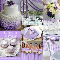 Lavender-and-White-Wedding-Colors | #exclusivelyweddings