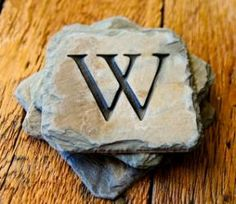 Love these slate coasters from T Michael Studios