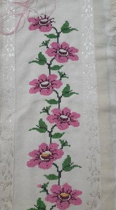 This Pin was discovered by müf Cross Stitch Letters, Cross Stitch Borders, Cross Stitch Samplers, Cross Stitch Flowers, Cross Stitch Designs, Cross Stitching, Cross Stitch Embroidery, Embroidery Patterns, Hand Embroidery