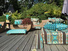 Ibiza Fashion, Bohemian Lifestyle, Outdoor Furniture Sets, Outdoor Decor, Ibiza Style, Turquoise, Home Decor, Decoration Home, Room Decor