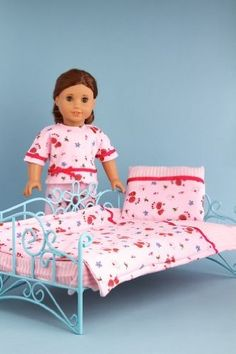 DreamWorld Collections Perfect Bedding - Pink cozy bedding includes comforter, blanket and pillow - 18 Inch Doll Bedding : Doll Bedding Sets