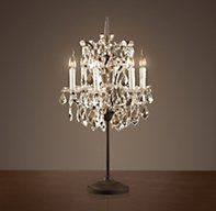 19th C. Rococo Iron & Crystal Table Lamp | Table | Restoration Hardware. I think these Lamps are  Absolutely Gorgeous & Overall utterly Fabulous!! Talk about Dramatc!  $795.00