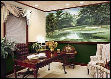 use this amazing golf mural in a bedroom study basement bar or game room golf themed wall decorations for the bedroom
