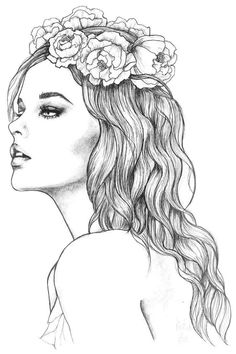 Dark Art Drawings, Pencil Art Drawings, Cool Drawings, Art Sketches, Summer Coloring Pages, Colouring Pages, Social Media Art, Makeup Drawing, Printable Adult Coloring Pages