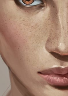 Digital artist Charlie Bowater used a Speckled brush on an Overlay layer and set it to around 10-20 per cent Opacity for emulating the skin's natural texture and imperfections.