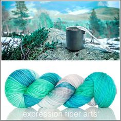 """100 Likes, 3 Comments - Expression Fiber Arts (@expressionfiberarts) on Instagram: """"NEW today! WILD Superwash Dewy Dk Yarn: http://www.expressionfiberarts.com/  This photo reminded me…"""""""