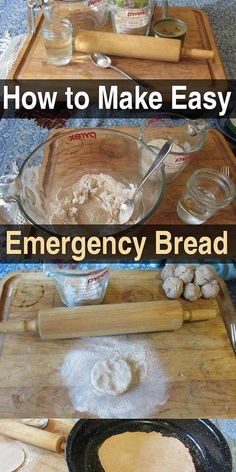 How to Make Easy Emergency Bread Urban Survival Site is part of Survival food - This emergency bread is easy to make, effective, and contains very few ingredients You can make as much as you need for a single day, or for a few days Emergency Preparedness Food, Prepper Food, Emergency Food Storage, Emergency Preparation, Emergency Supplies, Survival Food, Survival Prepping, Survival Skills, Survival Supplies