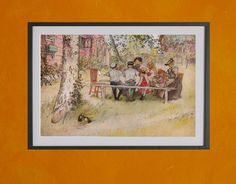 Breakfast Under The Big Birch, Carl Larsson, 1896. $7.00, via Etsy.