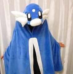 Hooded Character Blanket DIY - pokemon, Dratini, fleece