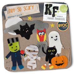 Not So Scary Felties Element Pack by Karah Fredricks ... Digital Scrapbooking