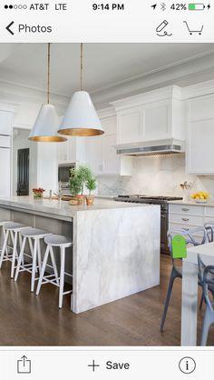 Cool kitchen island.