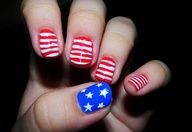The Puzzle of Sandras Life  4th of july  nails  manicure  nail design