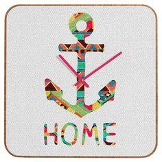 Bianca Green Anchor - You Make Me Home Clock
