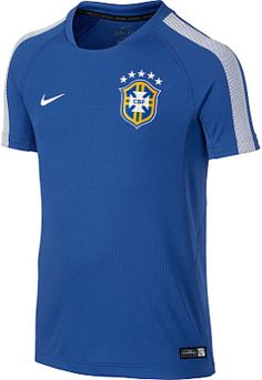 27c7c77bc Wear a NIKE® Brasil Squad short-sleeve soccer training top to practice on  the