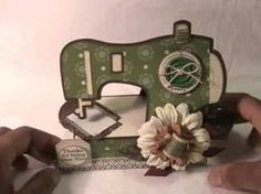 "▶ The Cutting Cafe DT Project:""Sewing Machine Matchbox"" - YouTube"