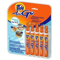Tide to Go Instant Stain Remover, .338-Ounce Sticks 5 in a Pack sold as 1 Pack Tide, http://www.amazon.com/dp/B002RS0MT2/ref=cm_sw_r_pi_dp_9F2qtb1CFXXT6WWD