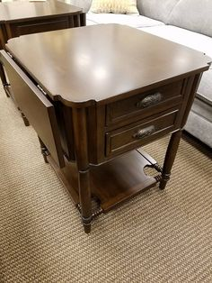 We have these drop leaf side tables that will match your home perfectly!