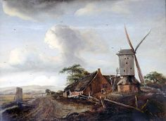 Meindert Hobbema (Dutch, 1638-1709). Landscape with a Windmill
