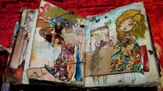 altered book, mix and much with journal junk, collage and mixed media- σελίδα προσωπικού άλμπουμ με μικτές τεχνικές Altered Books, Mixed Media, Collage, Journal, Artwork, Collages, Work Of Art, Auguste Rodin Artwork, Book Art